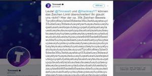 Twitter'ın sınırını 35 bin karakterli tweetle kırdı