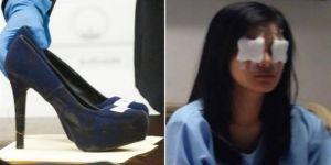 Topuklu ayakkabıyla arkadaşının gözünü çıkardı