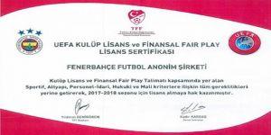 Fenerbahçe Uefa Lisansını Aldı