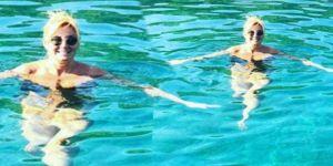 Pınar Altuğ'un Kasım ayında deniz keyfi!