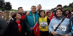Karaosmanoğlu, İstanbul Maratonu'na katıldı