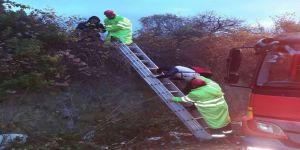 Ormanlık alanda mahsur kalan öğrencileri itfaiye kurtardı