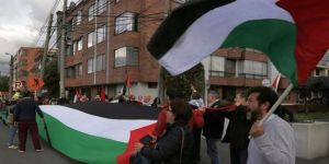 Kolombiya'da Kudüs protestosu