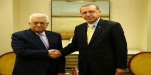 Cumhurbaşkanı Erdoğan, Mahmut Abbas ile bir araya geldi