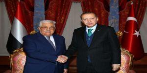 Cumhurbaşkanı Erdoğan, Mahmud Abbas'la görüştü