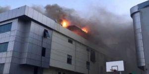 Bağcılar'da tekstil fabrikasında yangın