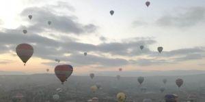 Kapadokya'da son yılların balon uçuş rekoru kırıldı