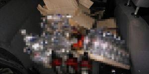 Silivri'de çok sayıda sahte içki ele geçirildi