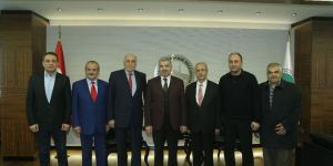 Alevi Vakıflar Federasyonu Başkan Çelik'i ziyaret etti