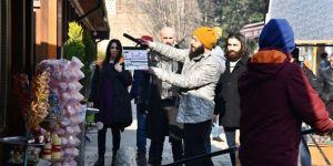 'Bordo Bereliler Afrin' filminin setini ziyaret etti