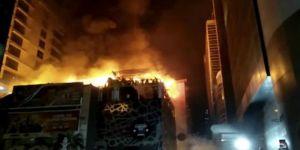 Hindistan'da büyük yangın!