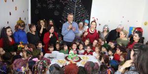 Mezitli'nin minikleri yeni yıl partisiyle coştu