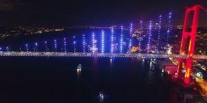 15 Temmuz Şehitler Köprüsü, havadan görüntülendi