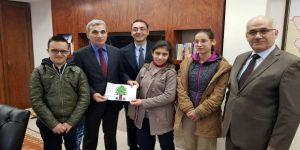 Özel öğrencilerden Nazilli protokolüne yeni yıl ziyareti