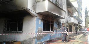 Suriyeli ailenin kaldığı ev yandı
