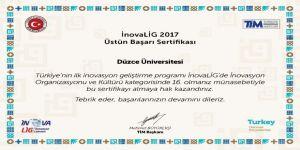 Düzce Üniversitesi ve Düzce Teknopark'tan İnovaLİG başarısı