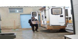 Suriye'deki hastanelere serum yardımı