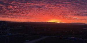 Uşak'ta bu sabah güneş farklı doğdu