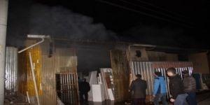 Çanakkale'de mobilya atölyesinde yangın