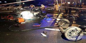 Araçta sıkışıp kalan şoförün parçaları dört bir yana dağıldı!