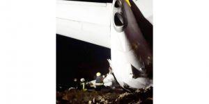 Yolcu uçağı pistten çıktı: Yaralılar var