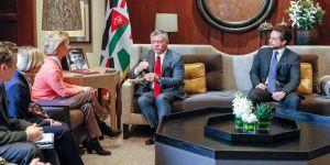 Kral II. Abdullah ve Almanya Savunma Bakanı bir araya geldi