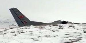 Uçağın enkazından ilk görüntü