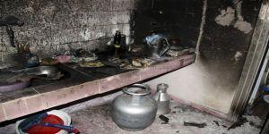 Evi yanan 3 çocuk babası yardım bekliyor!