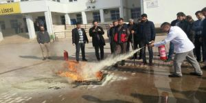 Okul personellerine yangın eğitimi!