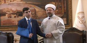 Diyanet İşleri Başkanı Erbaş, Cüneydi'yi kabul etti