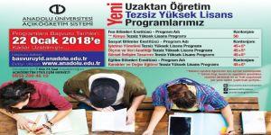 Anadolu Üniversitesi Tezsiz Yüksek Lisans Programlarında yenilik!
