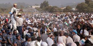 Etiyopyalı Ortodokslar Timkat Bayramı'nı kutluyor