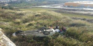 Kadın emlakçı kiralık araçla uçuruma yuvarlandı