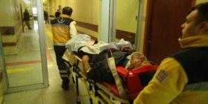 Sulama kanalına düşen işçi yaralandı