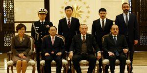 Erdoğan, Güney Kore Büyükelçisini kabul etti