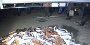 Bin 770 paket kaçak sigara ele geçirildi