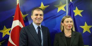 AB Bakanı Çelik, Mogherini ile görüştü