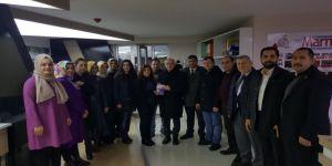 İlçe Başkanı AYAR'dan Marmara Gazetesi'ne ziyaret