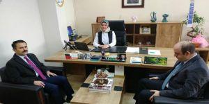 Vali Aktaş, Diş Hastanesi Başhekimi Akün'ü ziyaret etti