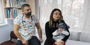 Bağırsağı delinen bebek başarılı ameliyatla sağlığına kavuştu
