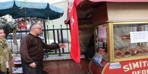 10 yıllık simitçi bir günlük hasılatını Afrin'e bağışladı