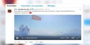 Jandarmanın 'Bayrak Şiiri' paylaşımı büyük beğeni topladı