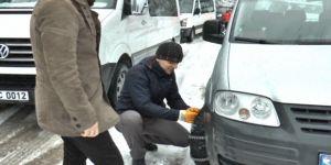 Ulaşıma kar engeli