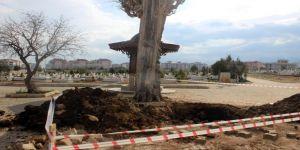 Mezarlıkta kepçeyle kazı yapan 9 kişi tutuklandı