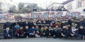 Trabzonspor'un kaptanları Onur ve Uğur taraftarlarla buluştu