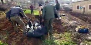 Afrin'de PYD'lilerin cesetleri gömülüyor