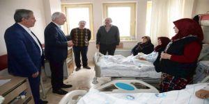 Başkan Kamil Saraçoğlu'ndan hasta ziyareti
