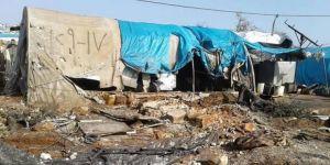 PYD'li teröristler, mülteci kampını topa tuttu