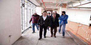 Başkan Subaşıoğlu, ödüllü projenin inşaatını inceledi