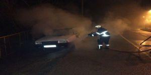 Araç yangını!